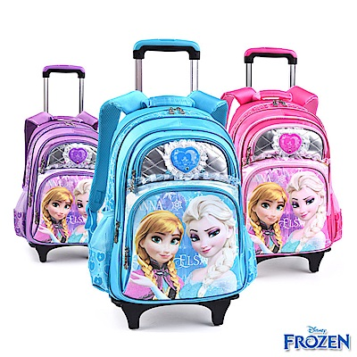 Disney 迪士尼 冰雪奇緣可拆式拉桿書包 3色可選