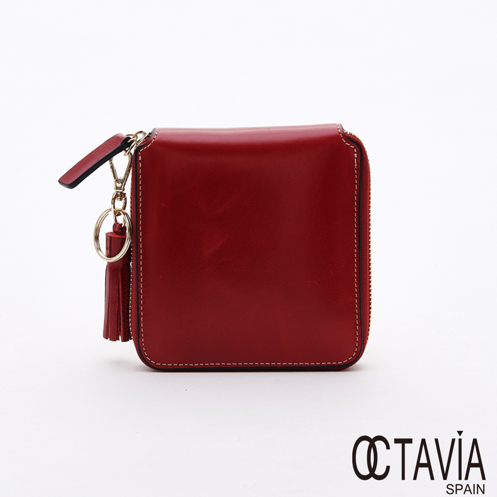 OCTAVIA8 真皮 - 超正點 二折全拉式牛皮短夾