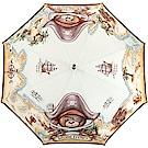 MOSCHINO 海盜泰迪熊圖案自動直立傘(咖褐色)