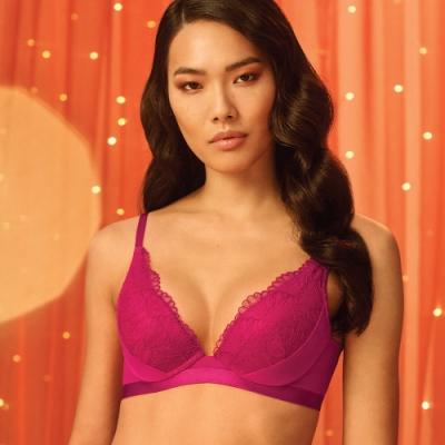 黛安芬-璀璨水感動系列水漾V型 B-C罩杯內衣 莓果粉