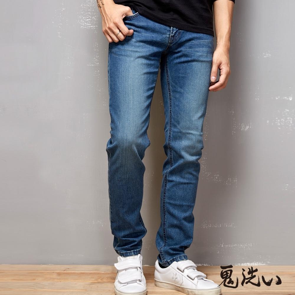 鬼洗 BLUE WAY-冰礦磁之力COOLMAX丹寧長褲(淺藍)