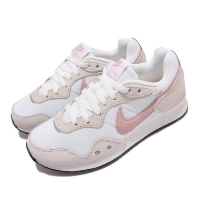 Nike 休閒鞋 Venture Runner Wide 女鞋 寬楦 復古鞋款 麂皮 舒適 穿搭 淺卡其 粉 DM8454-100