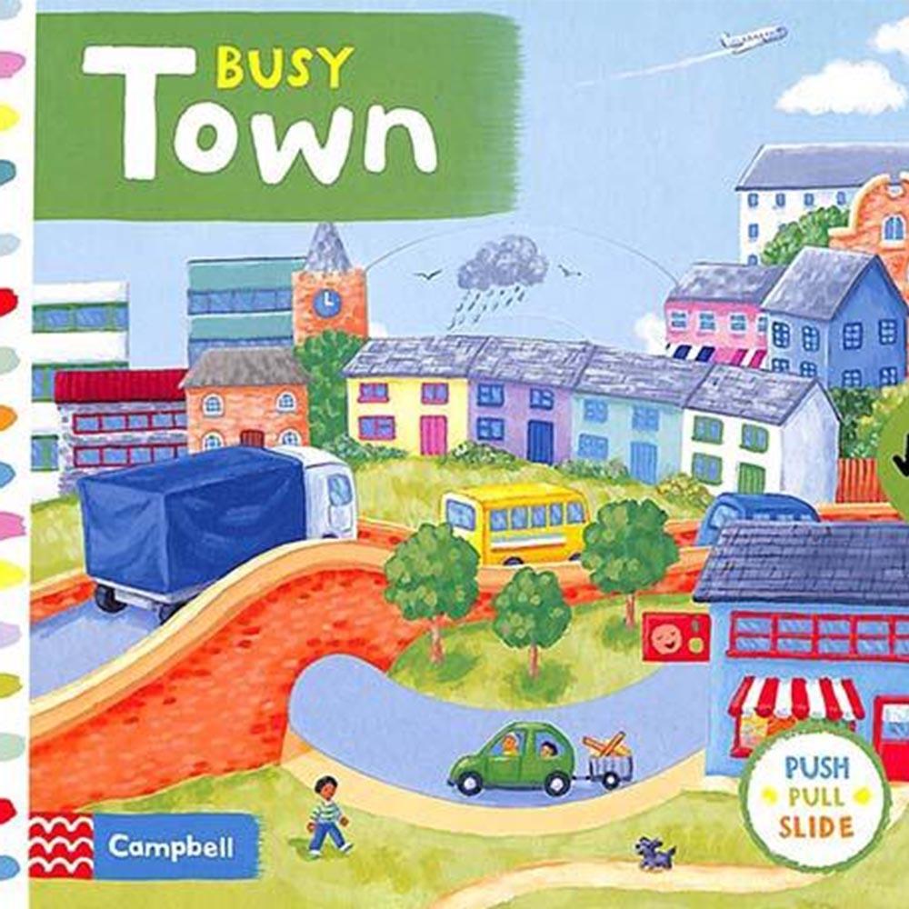 Busy Town 熱鬧的小鎮硬頁操作拉拉書