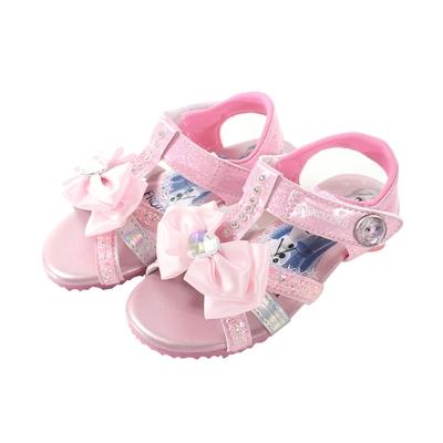魔法Baby 女童鞋 台灣製冰雪奇緣正版小淑女低跟涼鞋  sa14143