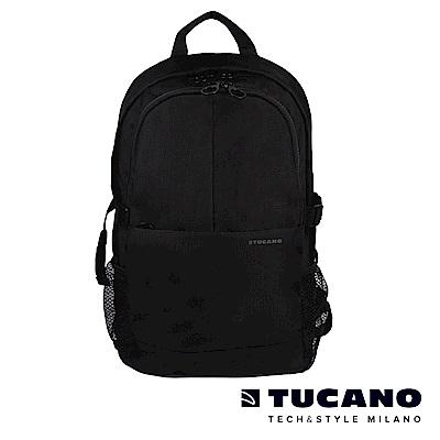 TUCANO GIPSY 15.6吋美式休閒多功能雙肩後背包-黑