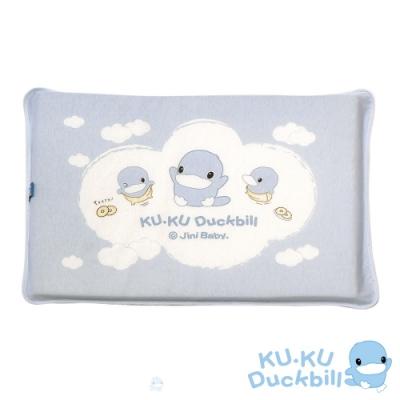 KUKU酷咕鴨 嬰兒感溫記憶趴枕(藍/粉)