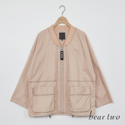 beartwo-帥氣風衣外套-粉紅