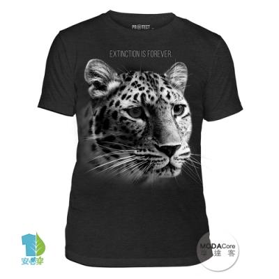 摩達客-美國The Mountain保育系列花豹永恆滅絕中性短T恤 柔軟高級混紡