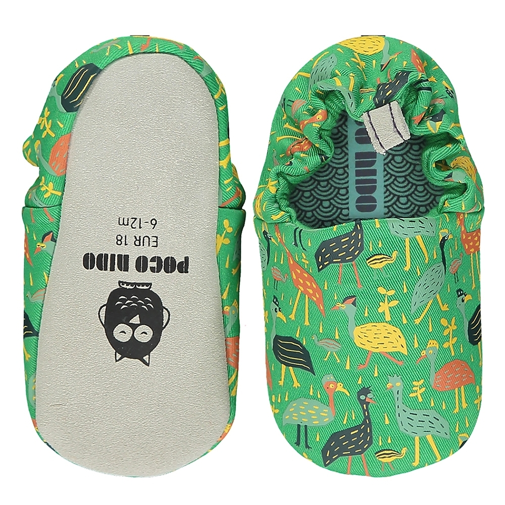 英國 POCO NIDO 手工嬰兒鞋 (鴕鳥一家人)【2021新款】
