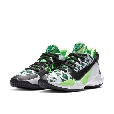 NIKE  慢跑 緩震 訓練 健身 運動鞋 大童 女鞋 黑綠白 CN8575002 Zoom Freak 2 Naija GS