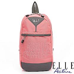 ELLE Active 活力運動風系列-單肩後背包-粉紅色