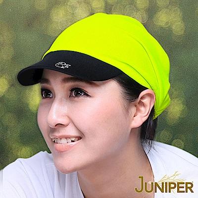 JUNIPER 吸濕排汗慢跑單車針織軟眉休閒帽