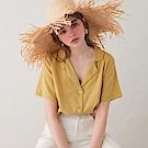 AIR SPACE LADY 純色復古感襯衫 (黃)