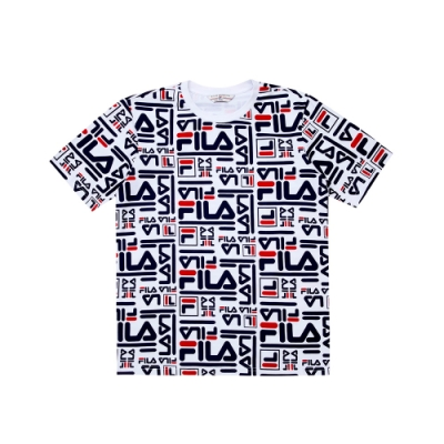 FILA #日潮攻略首部曲 短袖圓領T恤-白色 1TEU-1408-WT