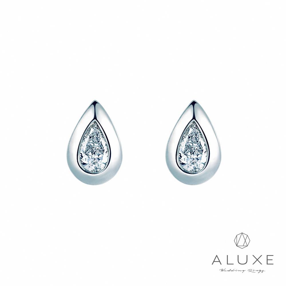 A-LUXE 亞立詩 18K金 Pure 時尚梨形美鑽耳環
