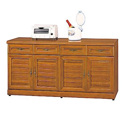 AS-安娜正樟木5.3尺碗碟櫃-159x42x81cm