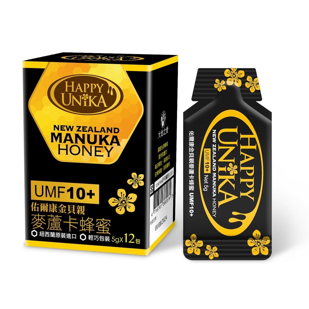 【Happy Unika】佑爾康金貝親麥蘆卡蜂蜜UMF10+隨身包5g(12入組)