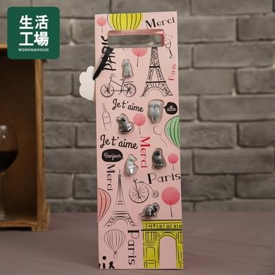 【週年慶倒數↗全館限時8折起-生活工場】Gift concept貓咪禮盒提袋(酒杯標誌)