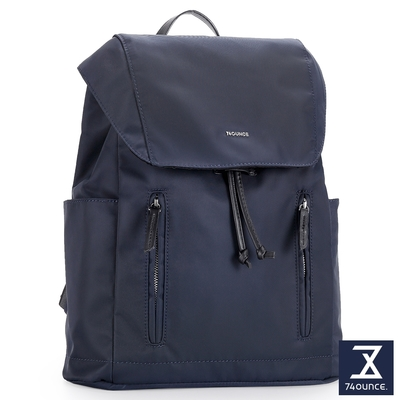 74盎司 Roomy 雙拉鍊束口後背包[LG-924-RO-W]藍