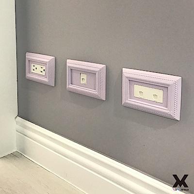 VaMarssa四方匯財冷漿陶瓷雙孔插座開關蓋卡準式-紫
