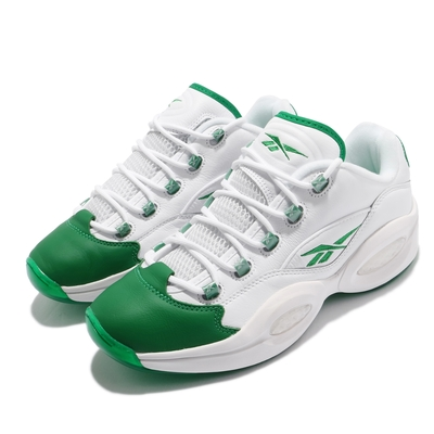 Reebok 籃球鞋 Question Low 運動 男鞋 Iverson 明星款 避震 包覆 穿搭 白 綠 GZ0367