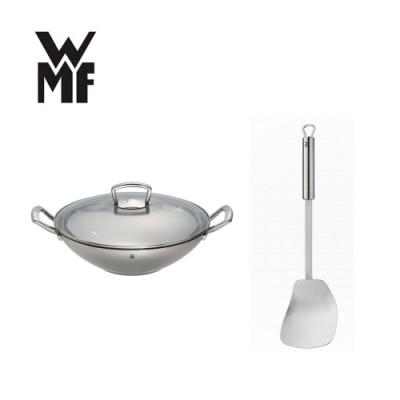德國WMF 不鏽鋼炒鍋 36cm 福利品+炒鍋鏟 (超值組合)