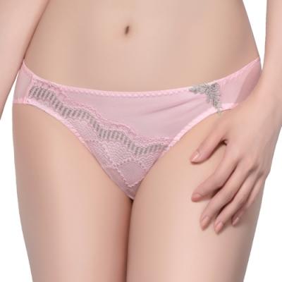 思薇爾 晶采34BRA系列M-XL蕾絲低腰三角內褲(愛戀粉)