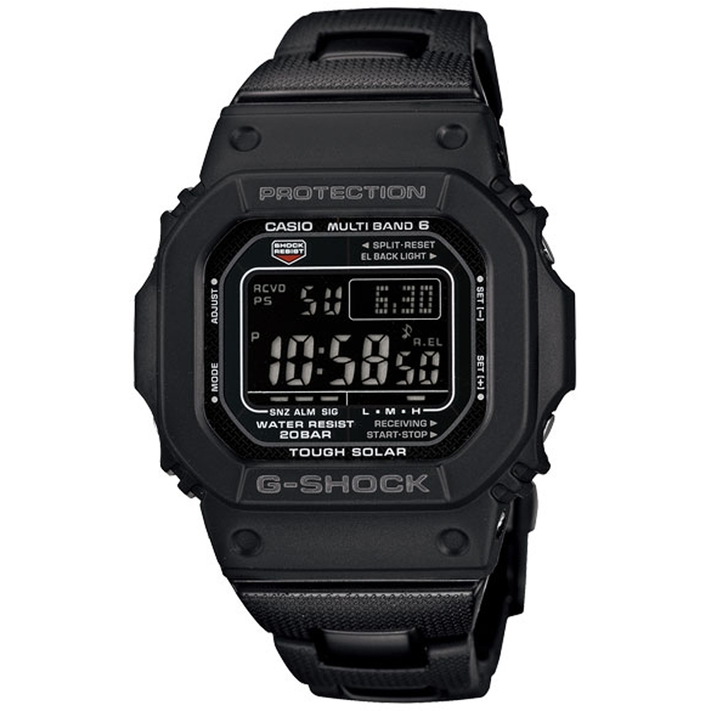 G-SHOCK 經典太陽能電波運動錶(GW-M5610BC-1)-黑/43.2mm