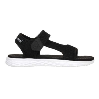 LOTTO 女輕量涼鞋-魔鬼氈 海邊 海灘 戲水 LT1AWS3371 黑白
