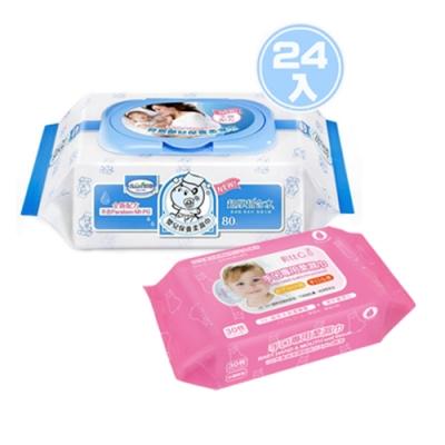 貝恩 NEW嬰兒保養柔濕巾80抽24入/箱+貝比Q手口專用柔濕巾/30抽x1包無香料