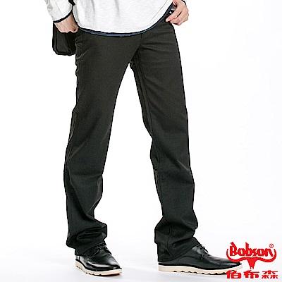 BOBSON 男款混紡毛料直筒褲(黑88)