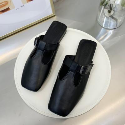 KEITH-WILL時尚鞋館 輕盈舒適簡約穆勒鞋-黑