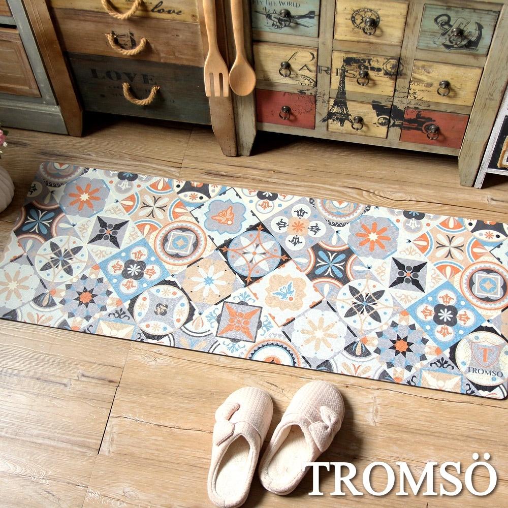 TROMSO廚房防油皮革地墊-K328古典花磚