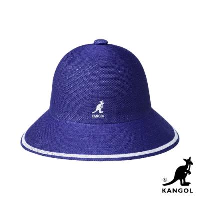 KANGOL-TROPIC STRIPE 鐘型帽-茄紫色