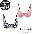 Pierre Cardin皮爾卡登 C罩 自然印花立體美型內衣(深藍 & 粉紅)