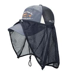 JUNIPER 抗紫外線UV防曬運動帽釣魚帽+可拆式披風