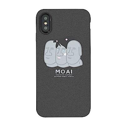 【TOYSELECT】iPhone XR MOAI摩艾石像岩砂手機殼