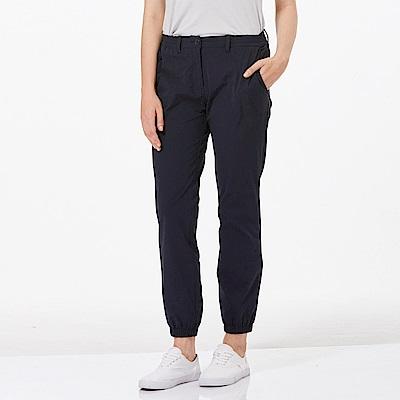 【HAKERS 】女 抗UV快乾彈性束口九分褲-深軍藍