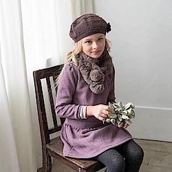 PIPPY 粉紅佳人刷毛洋裝 玫瑰