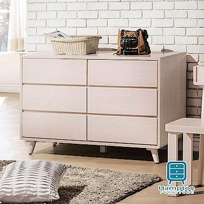 漢妮Hampton科爾溫系列洗白全實木六斗櫃-120x55x76.5cm