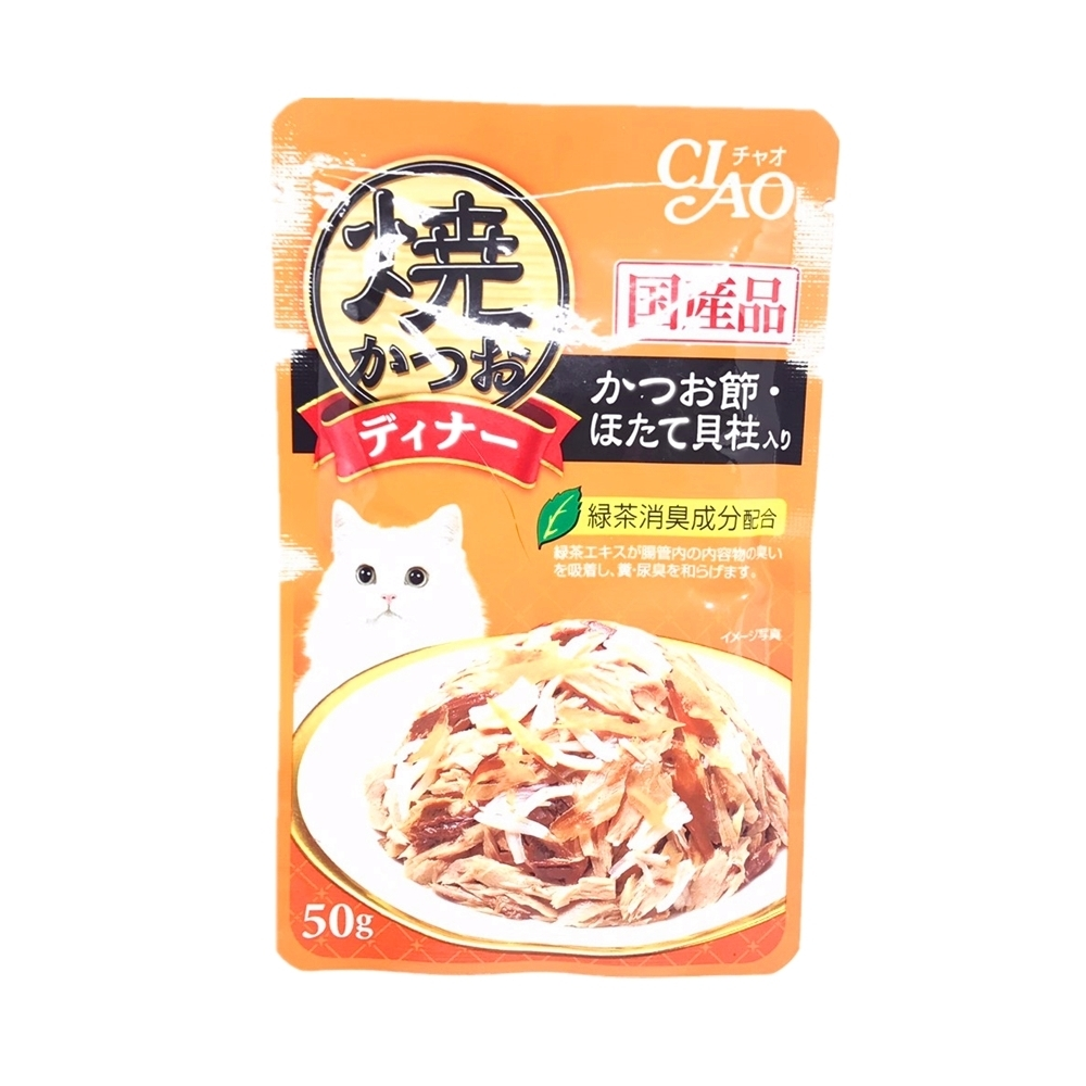 日本 CIAO 鰹魚燒晚餐包 IC-231 柴魚片&干貝 50g