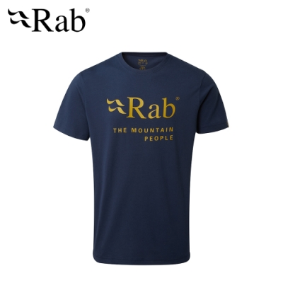 【RAB】Stance Mountain SS Tee 透氣短袖有機棉T恤 男款 深墨藍 #QCB39