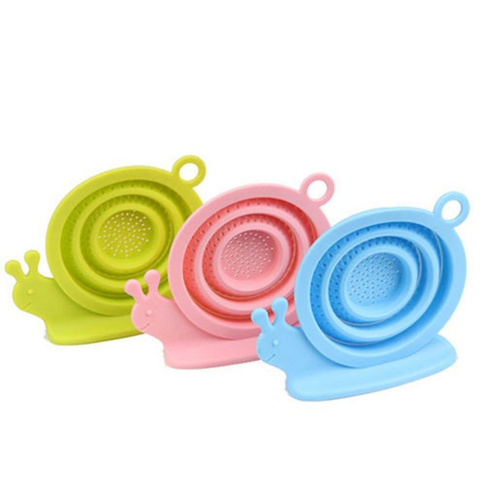 【KM生活】蝸牛造型矽膠泡茶濾網濾茶器2入/組(顏色隨機)