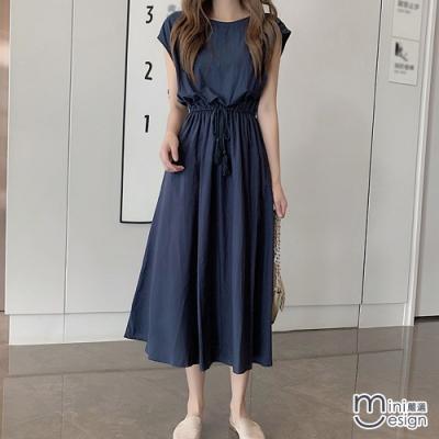 無袖收腰長版連身裙 三色-Mini嚴選