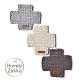 【Homely Zakka】北歐簡約風十字棉線隔熱墊/餐墊/杯墊_咖啡色 product thumbnail 1