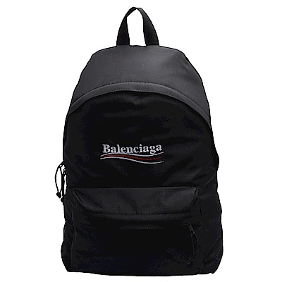 BALENCIAGA 經典Explorer系列品牌LOGO尼龍手提/後背包(黑)