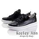 Keeley Ann 甜美氣息~蝴蝶緞帶水鑽繞邊休閒鞋(黑色-Asin系列)