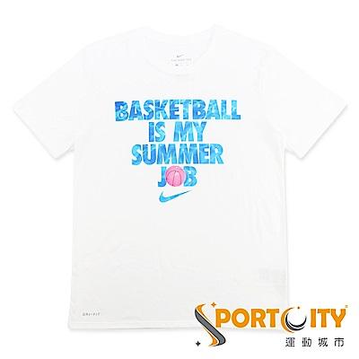 NIKE DRY TEE SUMMER JOB 短袖T恤 923724010 白