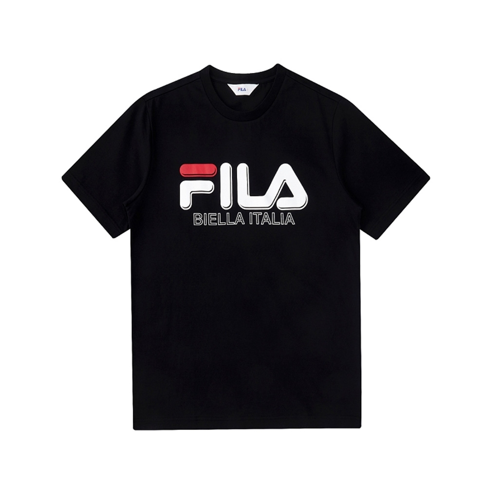 FILA 短袖圓領上衣-黑 1TEV-1501-BK