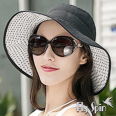 FLYSPIN 女款抗UV雙面防曬遮陽淑女漁夫帽